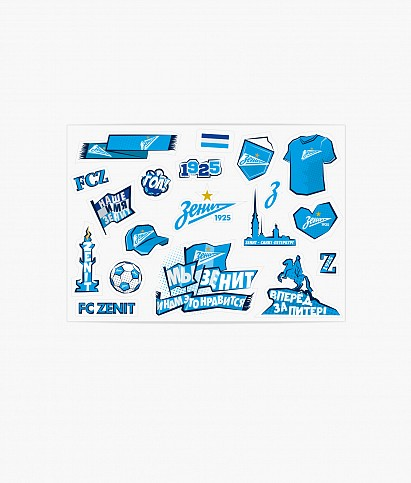 Set of Zenit stickers
