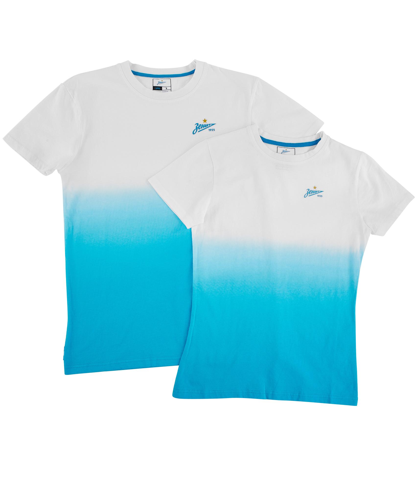Фото - Набор футболок для пары Градиент Зенит набор наклеек татуировок фк зенит детский зенит