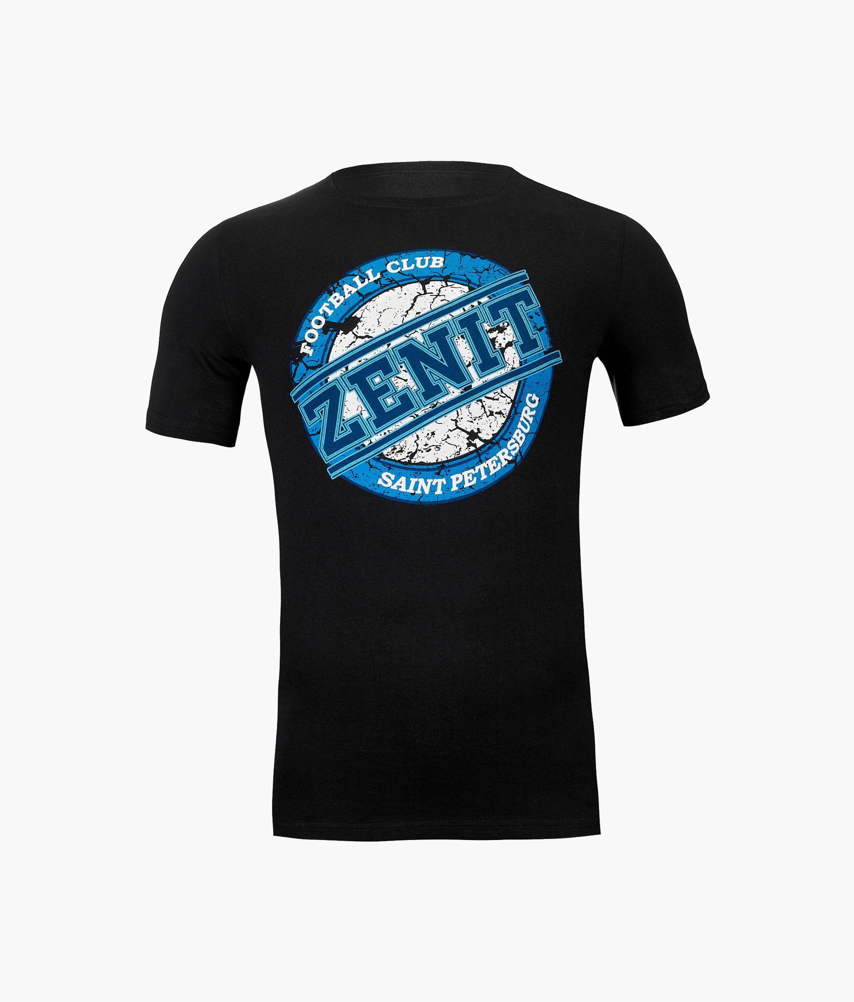 Футболка мужская Zenit Зенит Цвет-Темно-Синий футболка мужская columbia f цвет синий 1839971 403 размер xxl 56 58