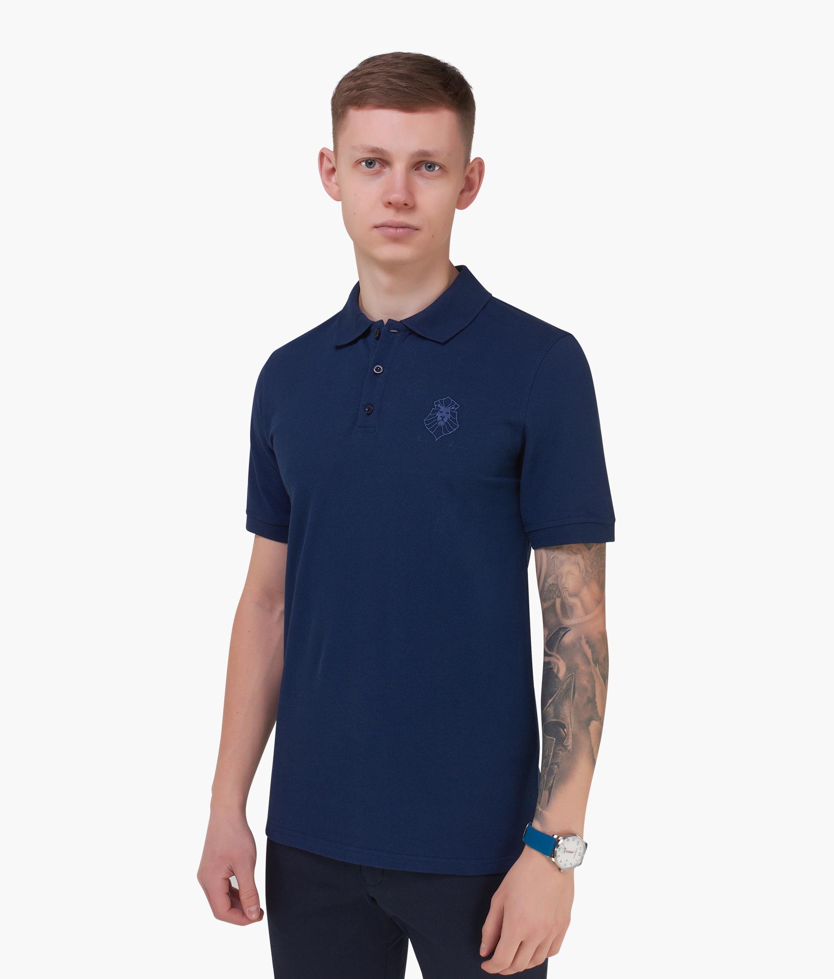 Поло мужское Зенит Цвет-Темно-Синий