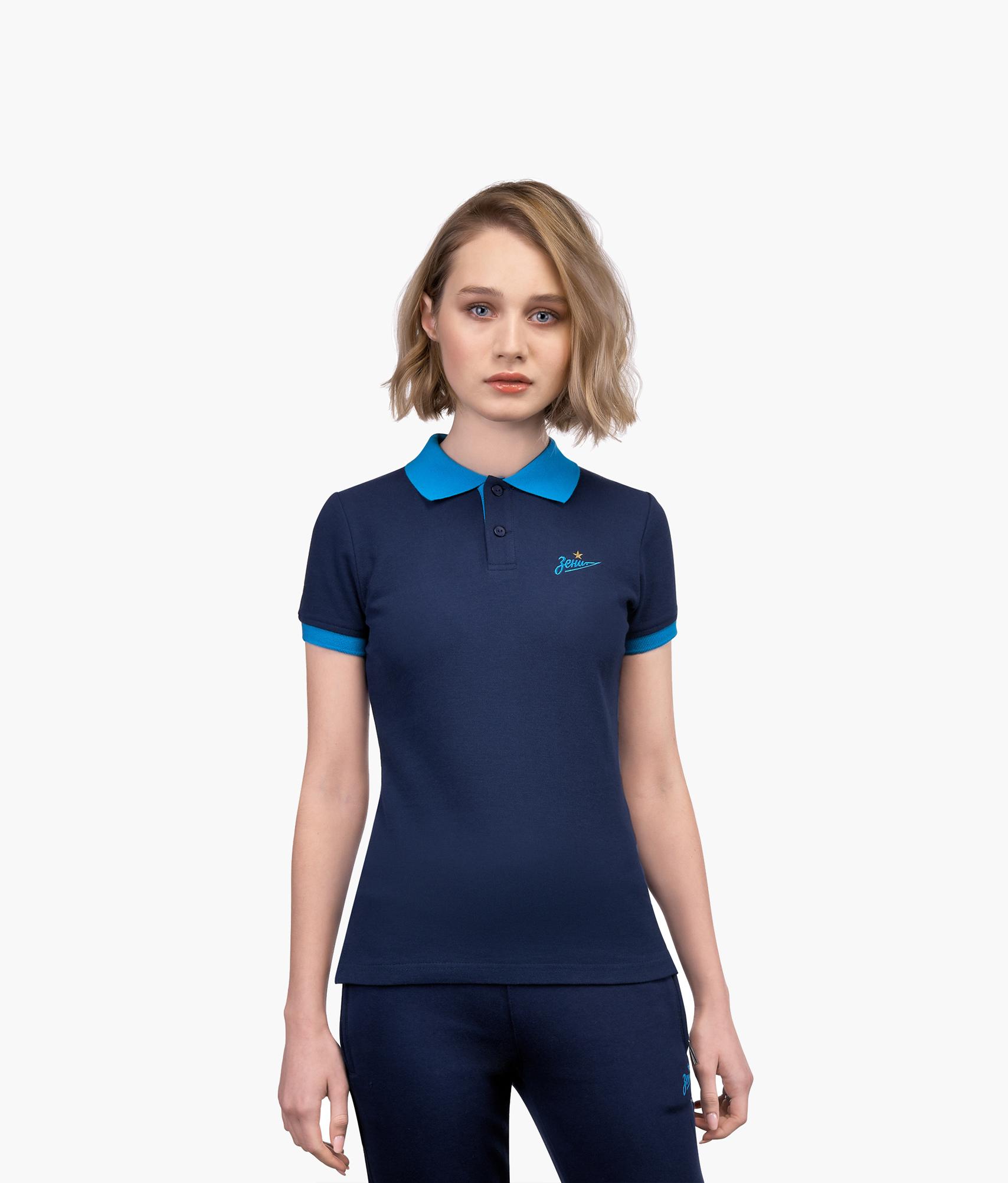 Поло женское «Зенит» Зенит Цвет-Синий шорты детские зенит цвет синий