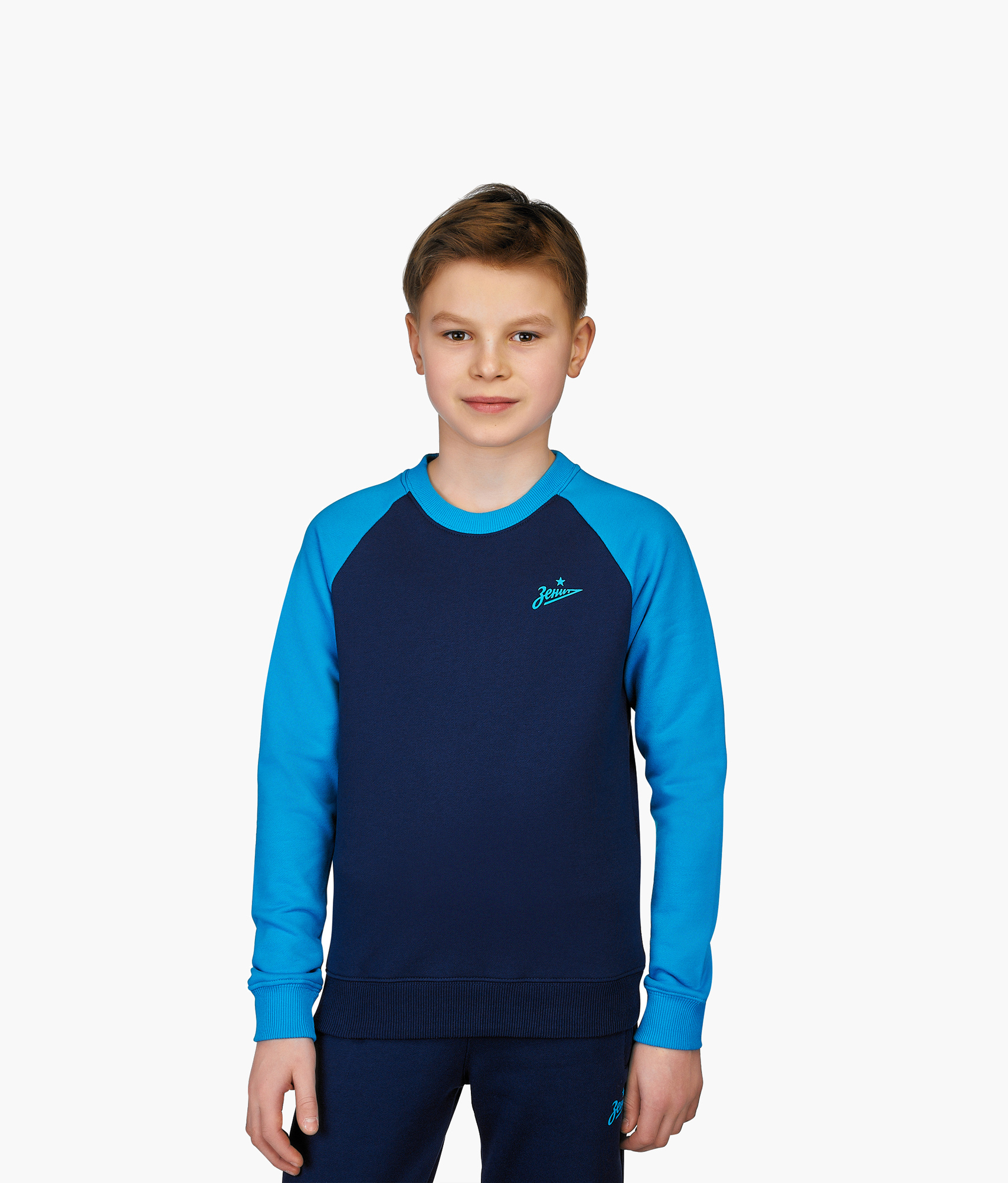 Свитшот подростковый Зенит Цвет-Синий-Лазурный шорты детские зенит цвет синий