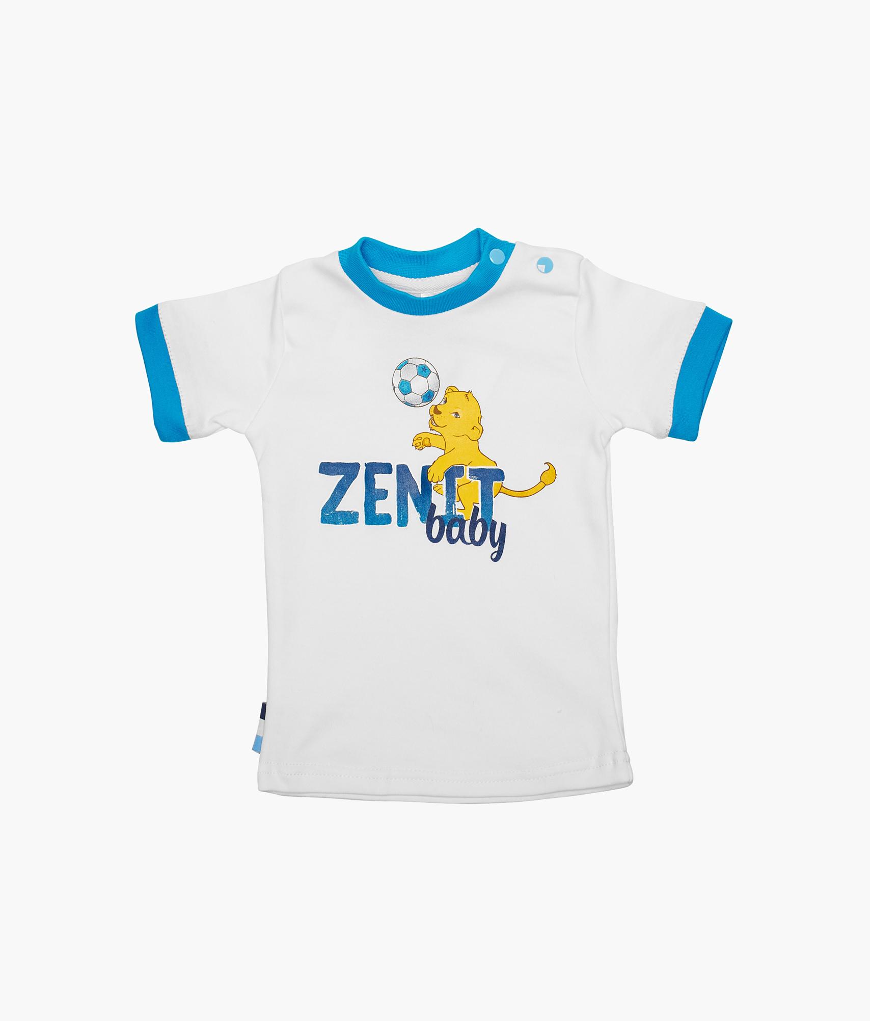 Футболка детская Зенит Зенит Цвет-Белый футболка зенит со своей фамилией