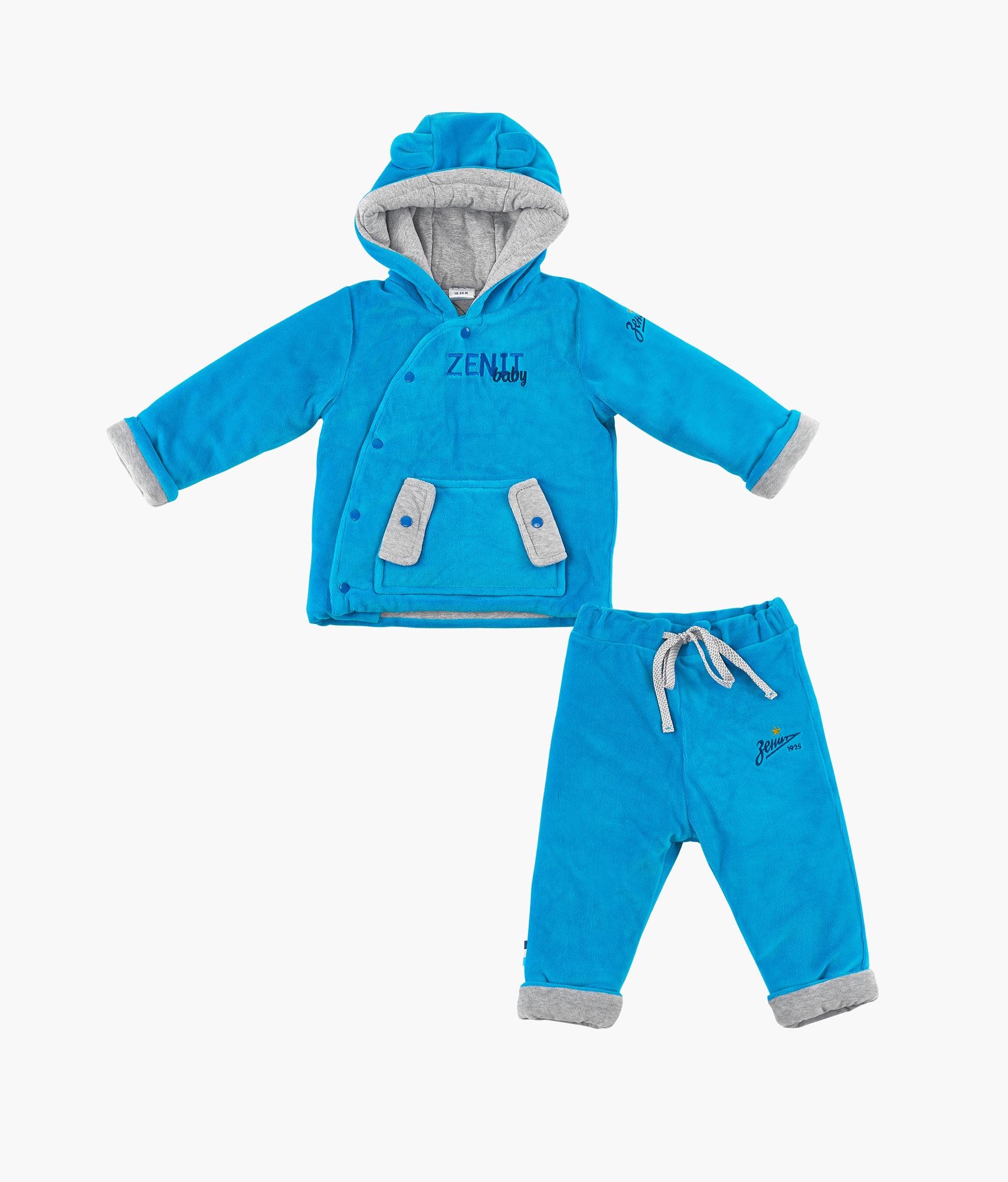 цена Комплект детский (толстовка+брюки) Зенит Цвет-Лазурный