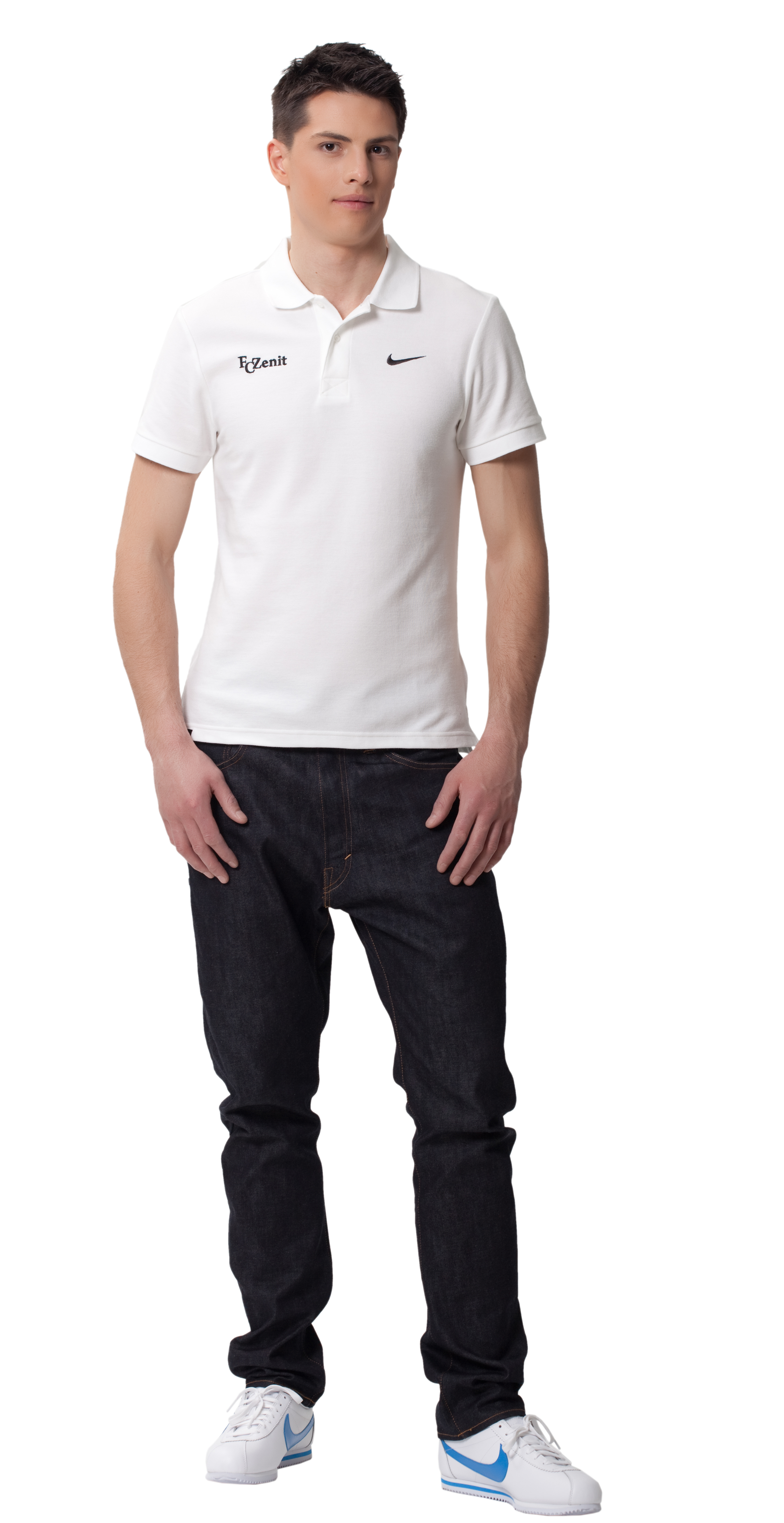 Поло мужское Nike, белый, Цвет-Белый, Размер-S