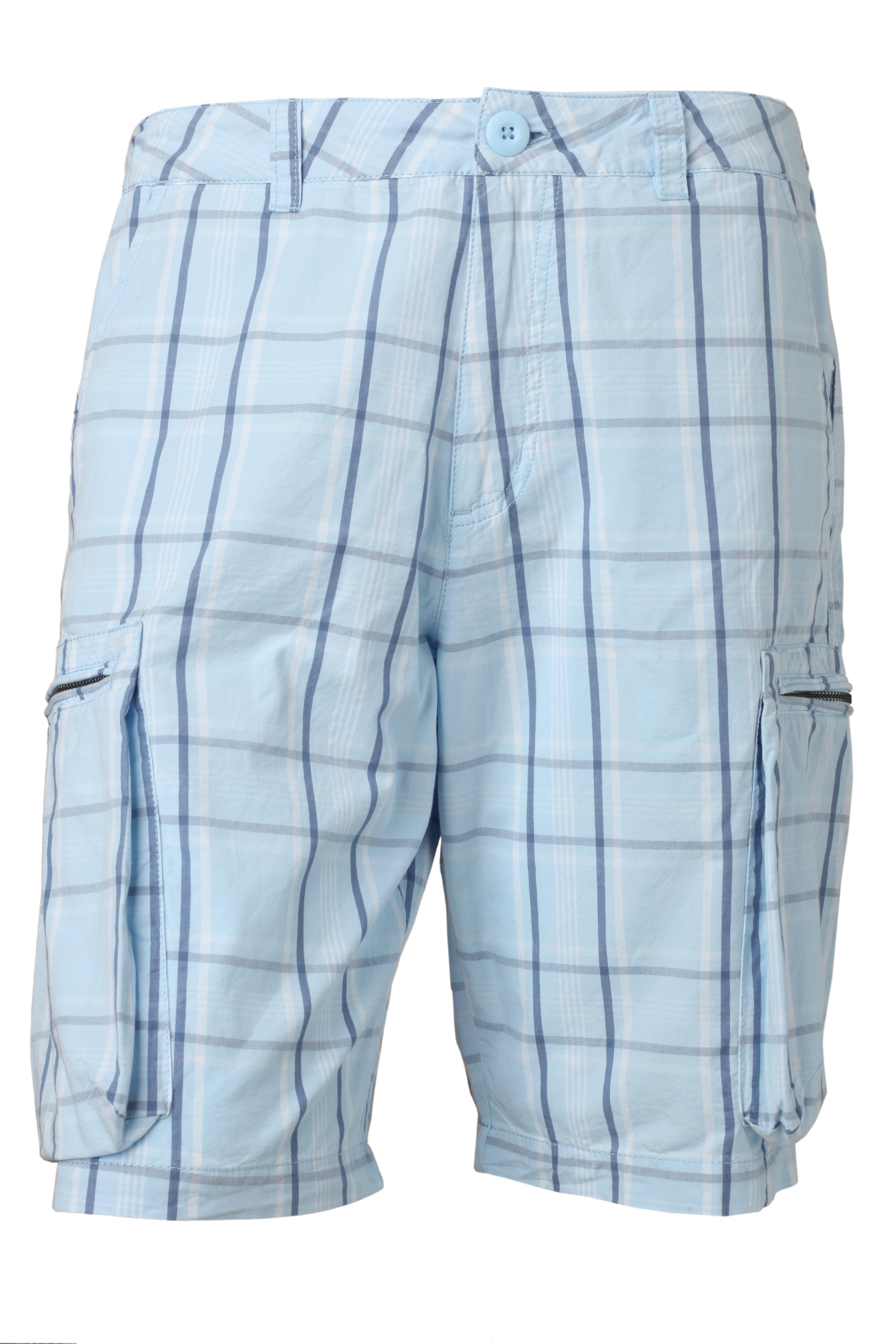 Мужские шорты Nike Challange Plaid Cargo Short, Цвет-Голубой, Размер-M