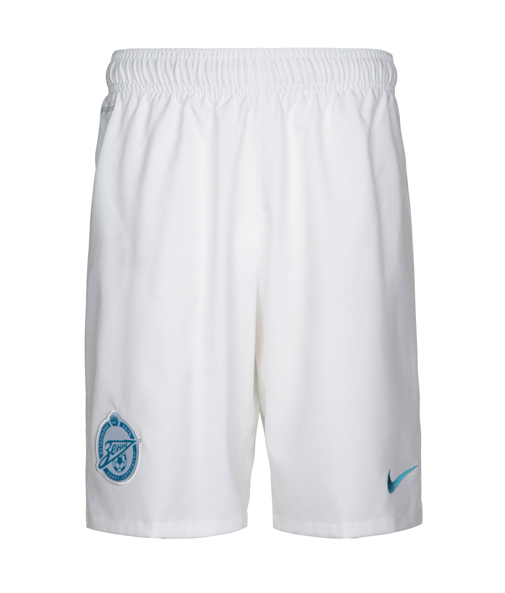 Шорты Nike подростковые выездные Зенит Цвет-Белый шорты детские зенит цвет синий