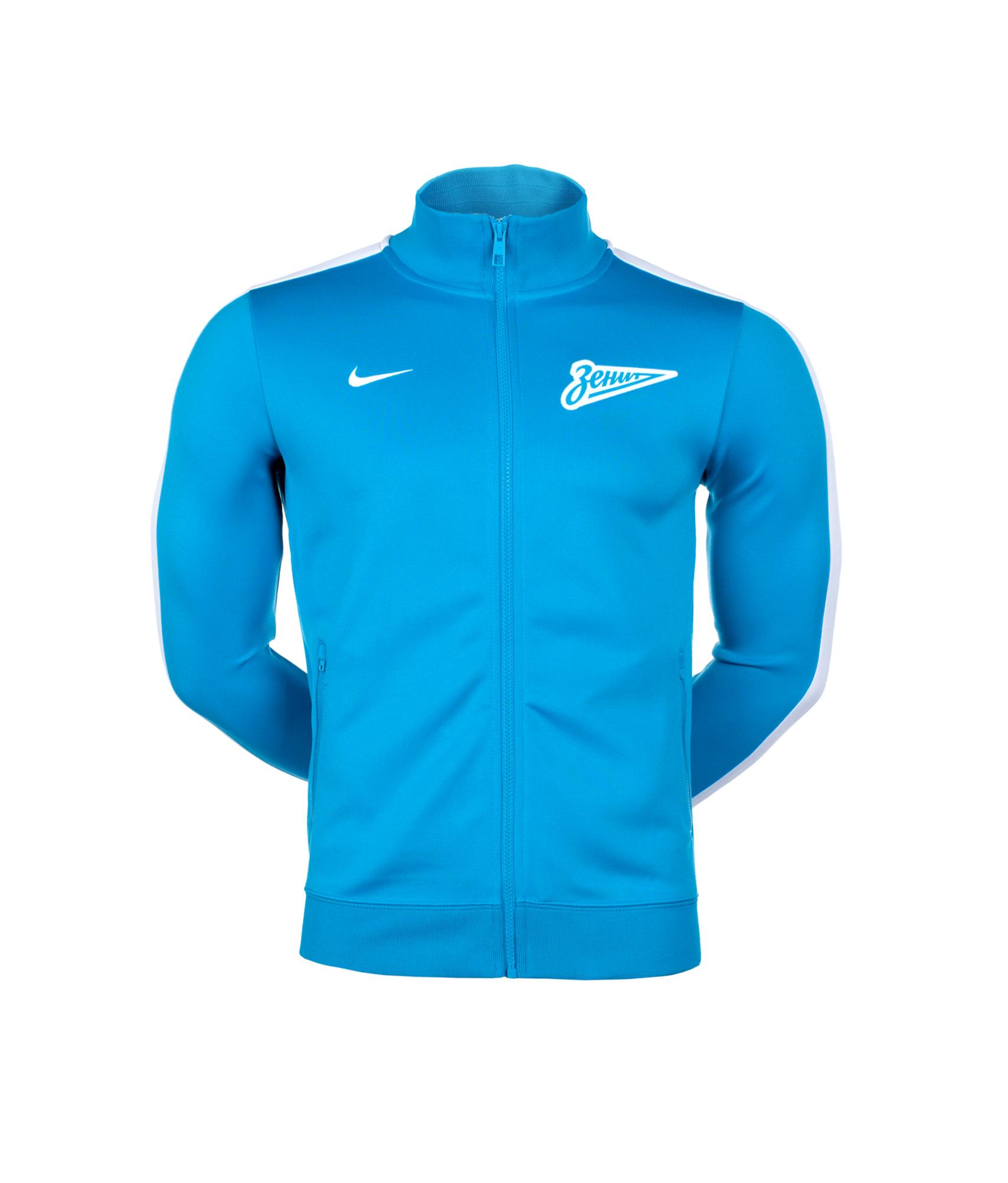 Лазурная олимпийка Nike, Цвет-Лазурный, Размер-S