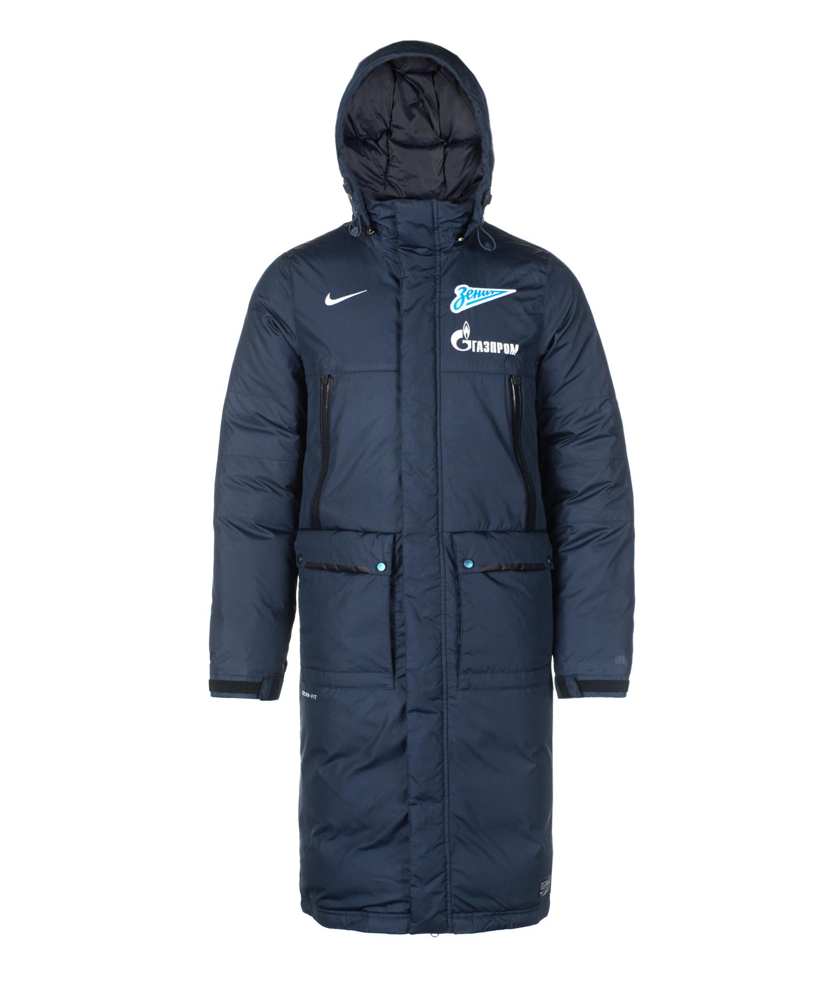Пуховик удлиненный Nike ZENIT SELECT DOWN LGR JKT, Цвет-Синий, Размер-S