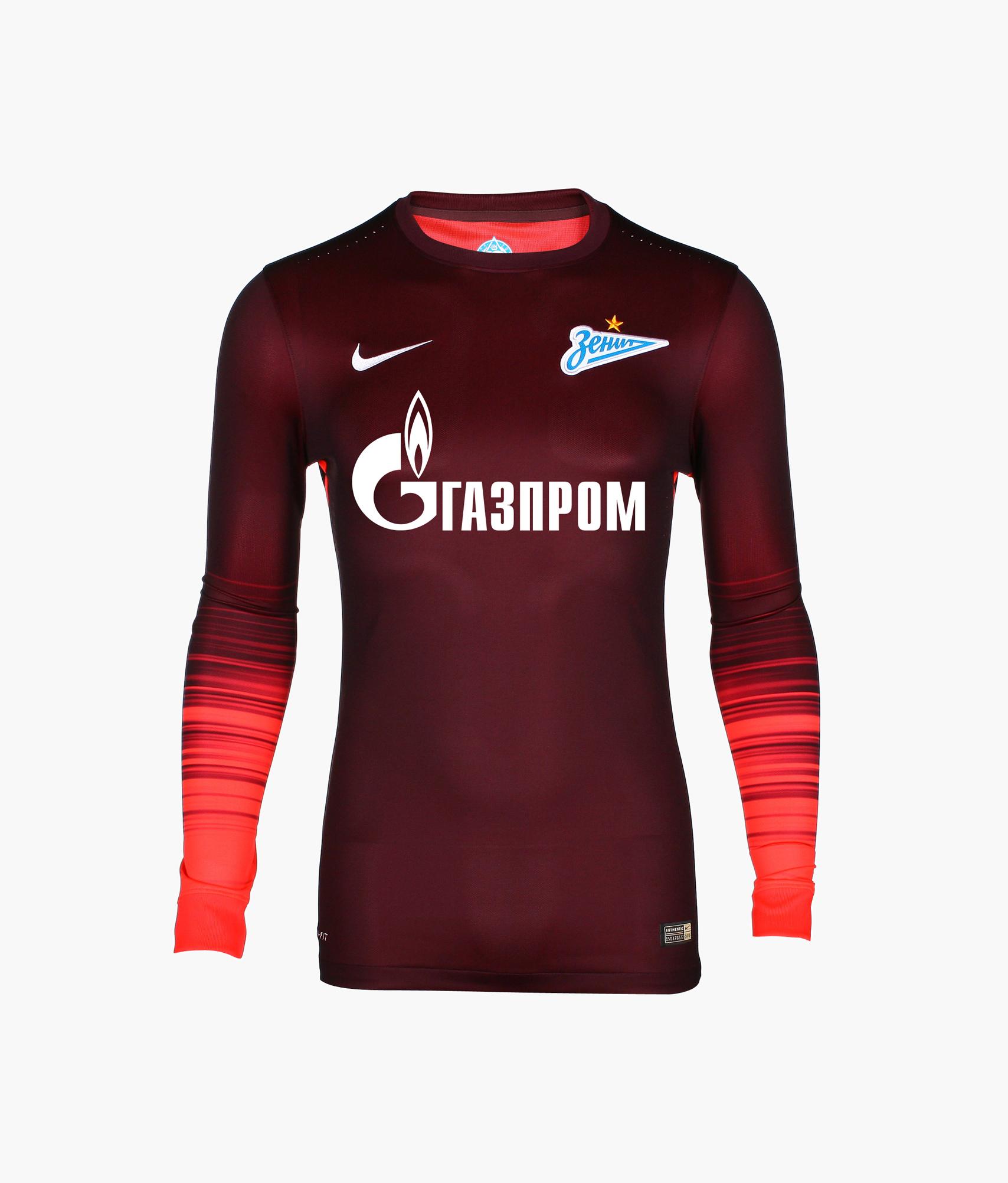 Оригинальная выездная футболка Nike с длинным рукавом Nike Цвет-Бордовый игровая выездная футболка цвет белый размер l