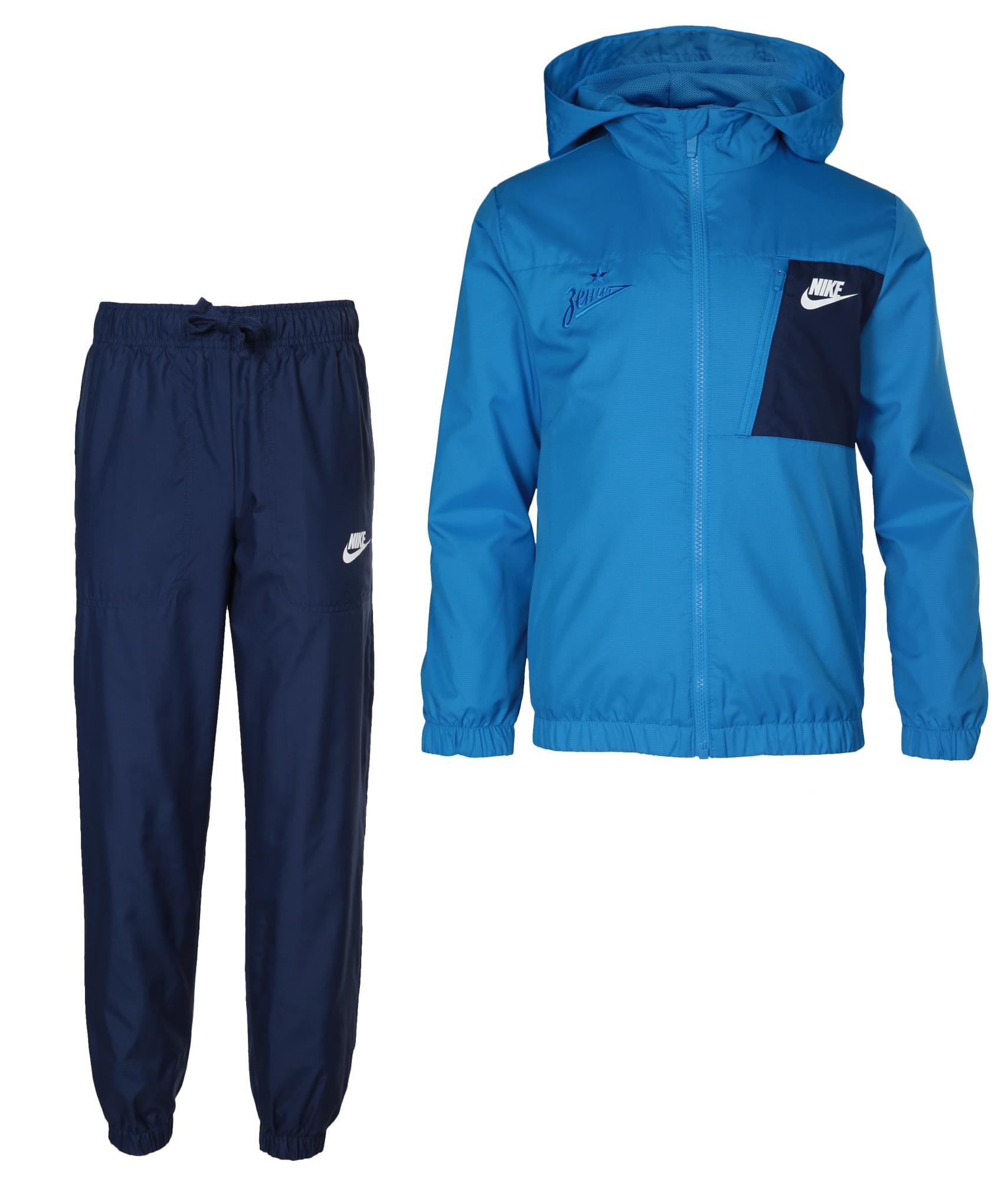 Подростковый спортивный костюм Nike, Цвет-Синий, Размер-S
