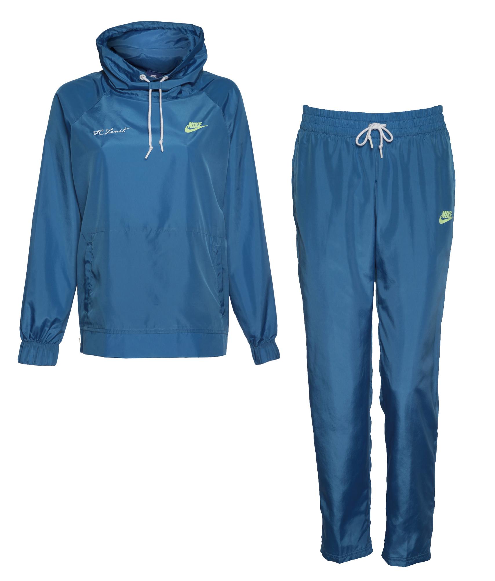Женский спортивный костюм Nike, Цвет-Голубой, Размер-S поло nike цвет голубой размер m
