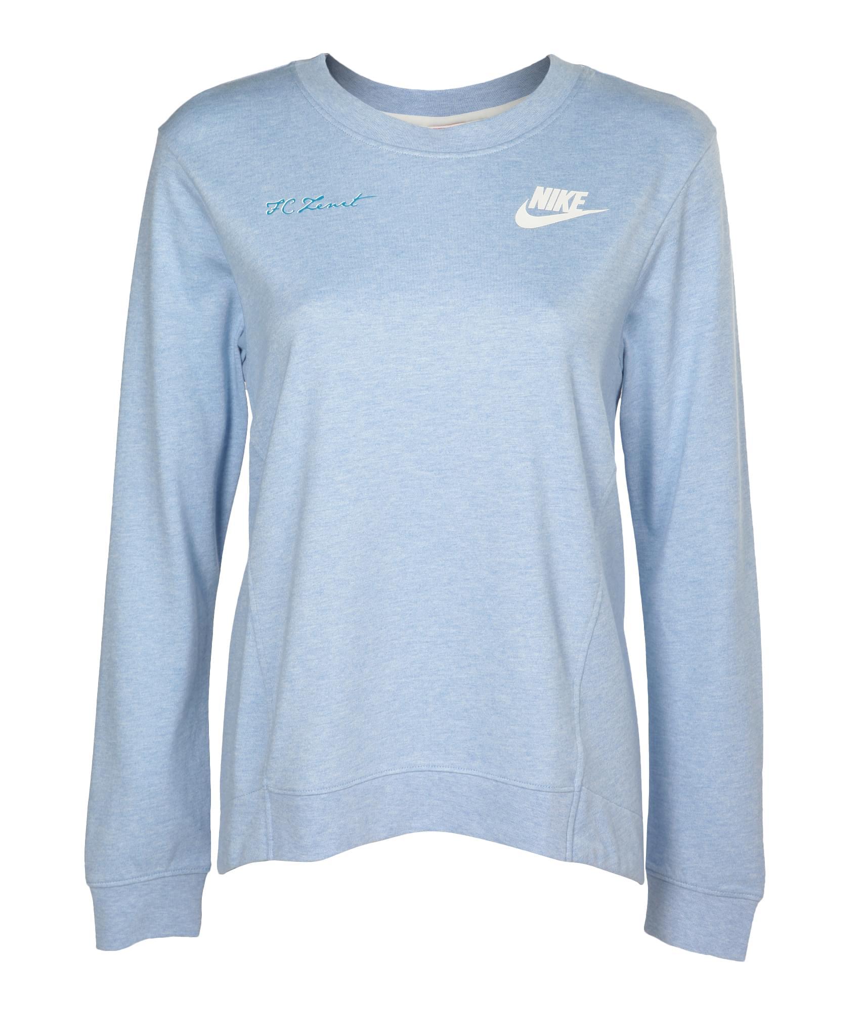 Джемпер женский Nike, Цвет-Голубой, Размер-L поло nike цвет голубой размер m