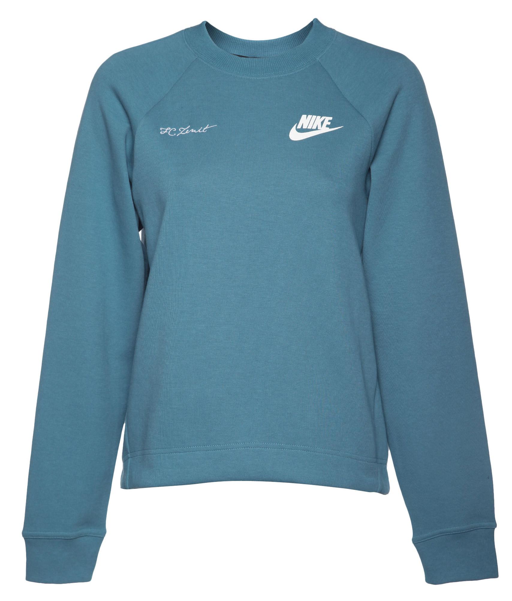 Толстовка женская Nike, Цвет-Голубой, Размер-M поло nike цвет голубой размер m