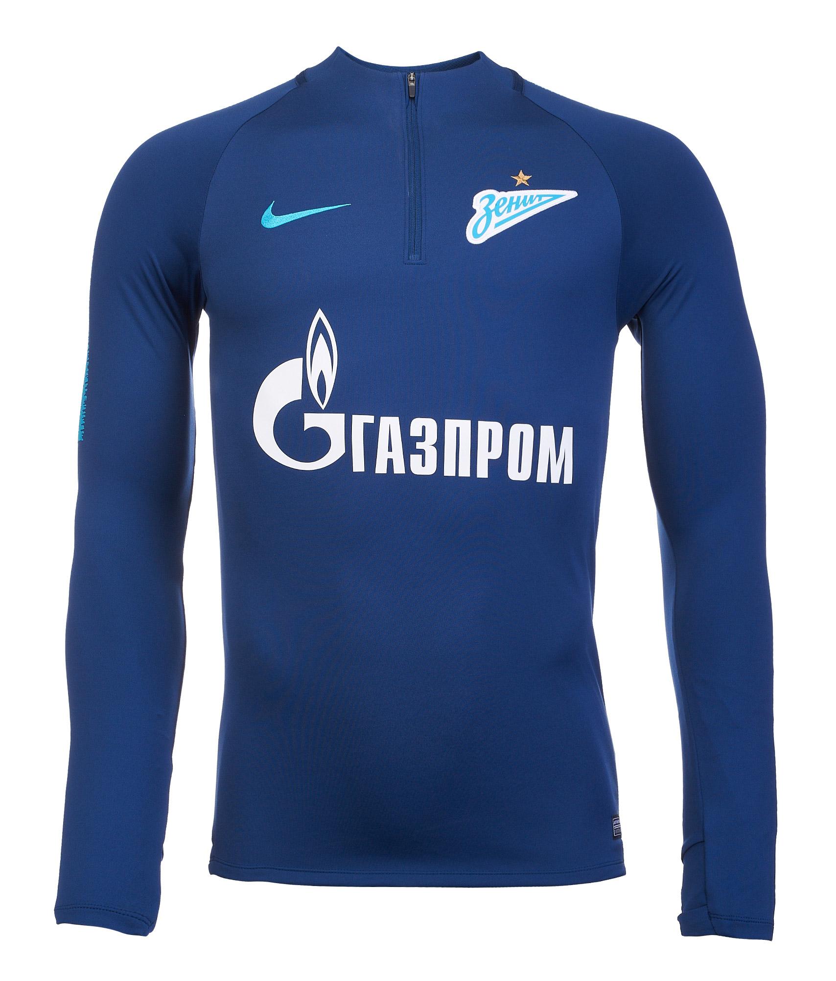 Свитер тренировочный Nike Zenit сезона 2018/19 Nike Цвет-Синий