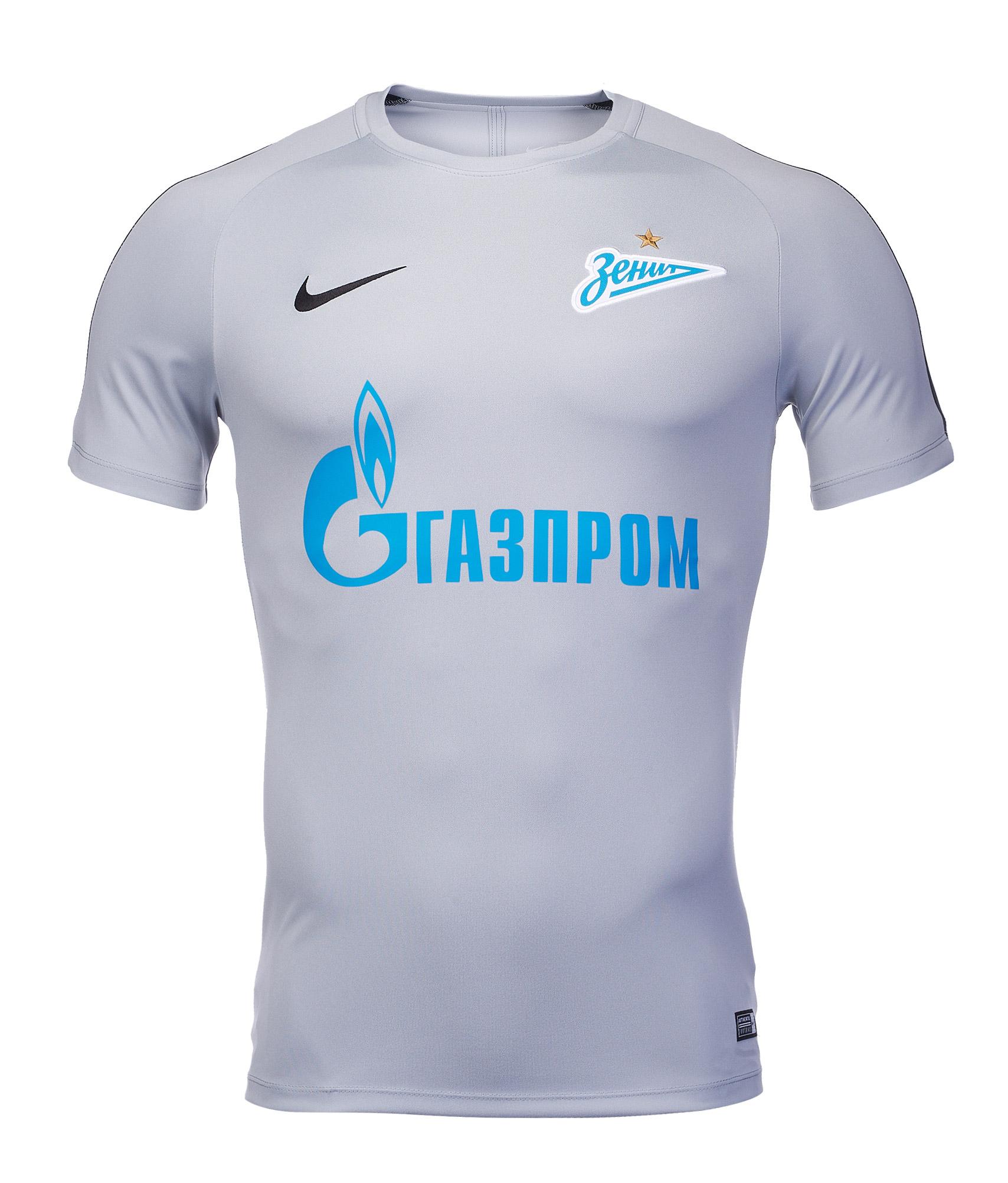 Футболка тренироочная Nike Zenit 2018/19 Nike Цет-Серый