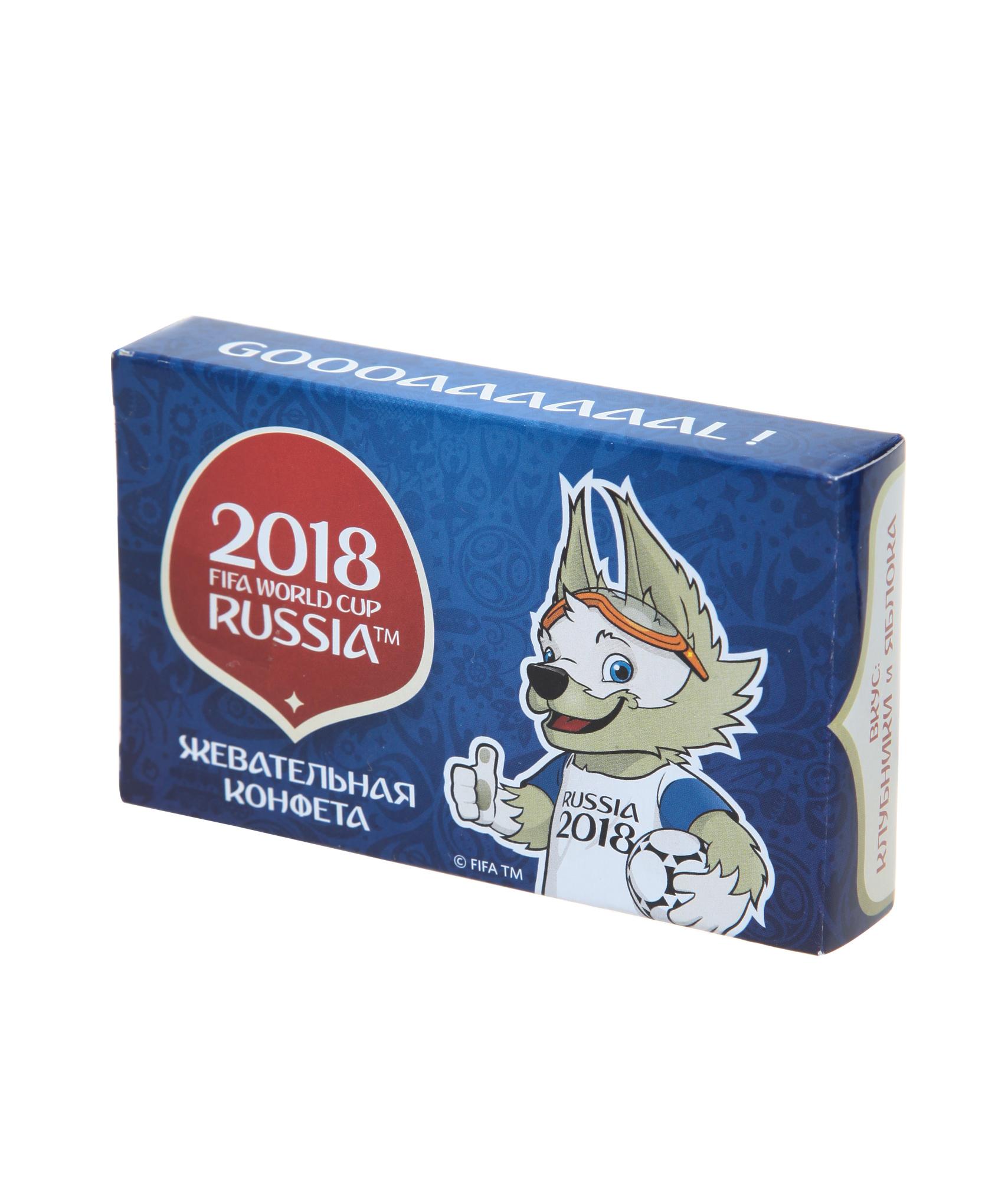 Кислые жевательные конфеты «Чемпионат мира 2018» Зенит sweet doctor конфеты источник супер силы 50 гр